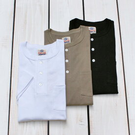 Felco x Health Knit SS Pocket Henley Neck Tee us cotton / 3-colors フェルコ ヘルスニット ヘンリーネック ポケット Tシャツ 半袖 丸胴 バインダー 3色展開 / 洗い ダブルネーム コラボ felco limited pointup