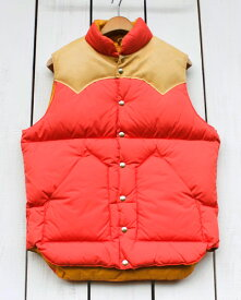 Rocky Mountain Featherbed Down Vest / down leather Apricot / Tan ロッキー マウンテン フェザーベッド ダウン ベスト / ダウン レザーヨーク シープスキン アプリコット / タン 日本製 rocky 20