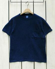 再入荷 / Good On Special Made Pocket Tee / T Shirts short sleeve / Indigo Dye グッドオン グットオン ポケット Tシャツ / 半袖 クルーネック インディゴ 藍 製品染め made in USA 限定生産 goodon