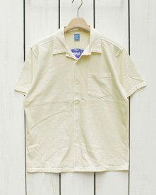Good On Open Tee Shirts short sleeve Natural Pigment Dye グッドオン グットオン オープンカラー シャツ / 半袖 Tシャツ生地 ボタン ナチュラル 生成り 製品染め Made in JAPAN 日本製 goodon