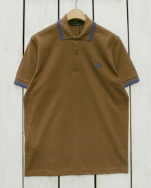 Fred Perry Twin Tipped Fred Perry Shirt / polo pique / 232 Tobaco 1964 royal フレッド ペリー 2本ライン フレッドペリー シャツ / ポロ 半袖 ピケ 鹿の子 / ブラウン ブルー made in England 英国製 fred M12N m12n