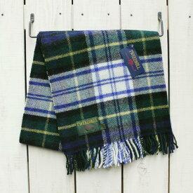 TWEEDMILL Pure New Wool Knee Rug / stole Tartan Check / Dress Gordon ツイードミル ウール ニー ラグ / ストール 大判 ひざ掛け チェック ブランケット タータンチェツク / グリーン ホワイト ネイビー British Made 英国製 tweed mill