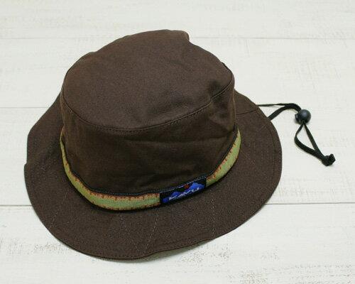 KAVU Strap Bucket Hat / cotton canvas Chocolate カブー ストラップ バケット ハット / キャンバス チョコレート ブラウン 定番 アウトドア made in usa kavu outdoor camp fes trek