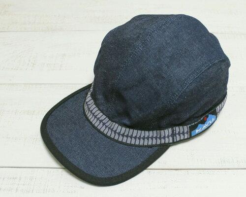 KAVU Strap Cap / cotton denim Indigo カブー ストラップ キャップ / コットン 定番 浅め Lサイズ デニム / インディゴ made in usa kavu