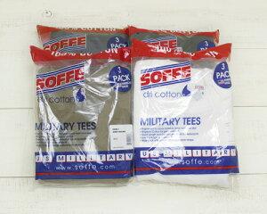 Soffe3PackMilitaryTeeShortSleeveAmericanMadedricotton/4-colorsソフィーミリタリー3枚パックTシャツ半袖100%コットンアメリカ製soffe