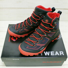 Mammut Ducan High GTX men / hiking boot vibram GORE-TEX / Black Dark Zion マムート デュカン ハイ / ゴアテックス 防水 ブーツ ハイキング ブラック ダークレッド mammut gore tex ブーツ 登山