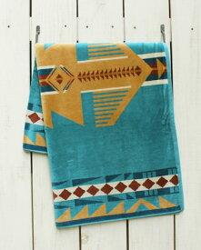 Pendleton Native Jacquard Bath Towel Eagle Gift ペンドルトン ネイティブ ジャガード バスタオル ブランケット コットン ビックサイズ ターコイズ ベージュ pendleton native ペンドルトン バスタオル