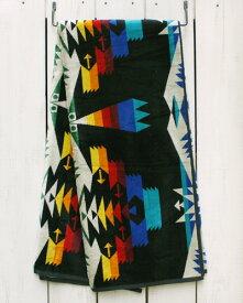 再入荷 Pendleton Native Jacquard Towel For Two Tucson Black ペンドルトン ネイティブ ジャガード タオル フォー トゥー ブランケット コットン ビックサイズ マルチカラー pendleton native ペンドルトン タオルケット 大判