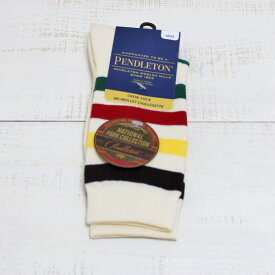 Pendleton Hosiery Jacquard Socks National Park / Glacier Stripe ペンドルトン ジャガード クルー ソックス 中厚手 ナショナルパーク グレイジャー ストライプ pendleton unisex gift