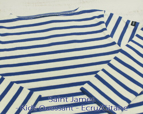 Saint James Kids Ouessant Long sleeve boatneck border Ecru Gitane セント ジェームス キッズ ウエッソン / 長袖 ボーダー ボートネック 厚手 生成り ロイヤル made in France フランス製 saintjames french marine