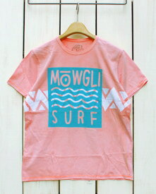 Mowgli Surf Wild Surf Tee / shortsleeve Vintage Papaya / batik モーグリ サーフ プリント バティック Tシャツ / 半袖 ヴィンテージ パパイヤ Made in USA mowgli