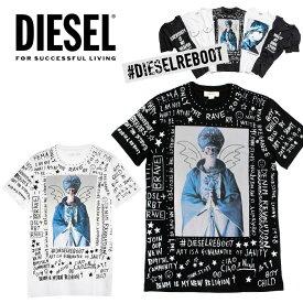 ディーゼル DIESEL メンズ Tシャツ ロゴ REBOOT-T-BLISSニコラ・フォルミケッティ Nicola Formichetti 半袖/黒/ブラック/ホワイト/メッセージ