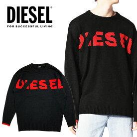 ディーゼル DIESEL メンズ ロゴ ニットK-LOGOX KNIT セーター プルオーバーニット 長袖 丸首 クルーネックオーバーサイズ ドロップショルダー