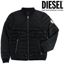 DIESEL ディーゼル メンズ ボンバージャケット 中綿アウターJ-CREED JACKETブルゾン アウター ジャケット 上着シンプル ブラック 黒 【ラッピング不可】