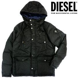 DIESEL ディーゼル メンズ フードジャケット 中綿アウターW-UNRESTY JACKETブルゾン アウター ジャケット 上着シンプル ブラック 黒 【ラッピング不可】