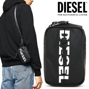 DIESEL ディーゼル 財布 ロングストラップ付き ミニサイズポーチコインパース ガジェットケース ミニウォレットBAONA BOLDMESSAGE X06265 P1705 T8013ブラック 黒 ロゴ ユニセックス メンズ レディース