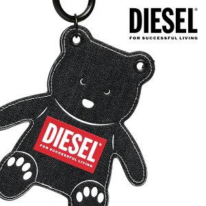 DIESEL ディーゼル ベア クマ ストラップ付きカードケースORSONE X06790 P3185 H1146デニム IDケース トレインパスケースバッグチャーム ネックストラップ