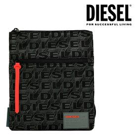 ディーゼル DIESEL ショルダーバッグ ボディバッグ X04813 P2250 H5839 DISCOVER-UZ F-DISCOVER CROSS BODYBAGBLACK ブラック 黒 ロゴ シンプル 総柄 軽量