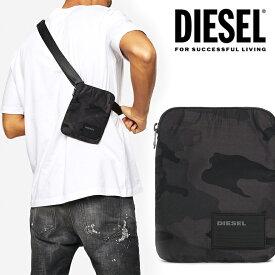 ディーゼル DIESEL ミニショルダーバッグ ミニポーチロゴ シンプル 迷彩 かっこいい ブラック 黒X06343 P2084 T8013 F-DISCOVER CROSS