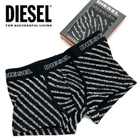 ディーゼル メンズ ボクサーパンツ DIESEL UMBX-DAMIEN BOXER-SHORTS CIYK SAYAスタイリッシュ 総柄 シンプル ロゴ 下着 パンツ アンダーウェア ブラック