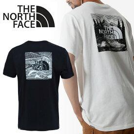 ノースフェイス Tシャツ THE NORTH FACE ボックスロゴ 半袖 カットソーNF0A2ZXE SS RED BOX CELEBRATION TEEトップス クルーネック バックプリント