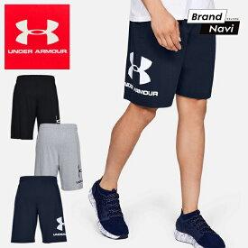 メンズ アンダーアーマー UNDER ARMOUR 紳士 スポーツスタイル コットン 綿 ハーフパンツ ズボン 1329300 半ズボン*