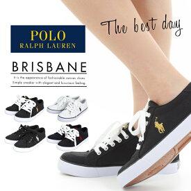 POLO RALPH LAUREN BRISBANE ポロ ラルフローレン レディース スニーカー 靴 シューズ カジュアル キャンバス ローカット 白 黒 ブリスベン