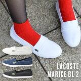 メンズレディースユニセックスMARICEBL2シューズLACOSTEラコステマリススリップオンキャンバススリッポンスニーカー靴