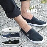 メンズMARICEBL2シューズLACOSTEラコステマリススリップオンキャンバススリッポン紳士男性スニーカー靴