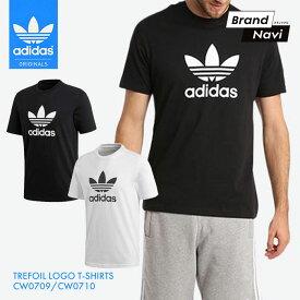【サイズ交換1回無料】アディダス Tシャツ メンズ オリジナルス トレフォイル TEE インナー シンプル 無地 白 黒 ブラック ホワイト adidas Originals TREFOIL LOGO T-SHIRTS