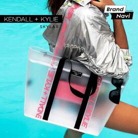 ケンダルアンドカイリー トートバッグ ハンドバッグ シースルー クリア スケルトン スカイラー レディース 女性 婦人 Kendall+Kylie SKYLAR