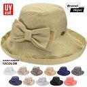 スカラハット レディース 帽子 ジアナ リボン 紫外線対策 日焼け防止 UVカット レジャー SCALA GIANA BOW LC399R*