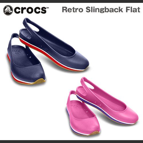 Crocs Retro Slingback Flat Womens レディース サンダル クロックス レトロ スリングバック フラット ウィメンズ