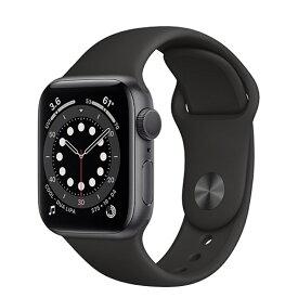 Apple Watch Series 6(GPSモデル)アップル-40mmスペースグレイアルミニウムケースとブラックスポーツバンド MG133J/A【全国送料無料 365日発送】【国内正規品】