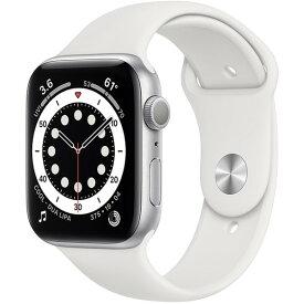 【全国送料無料 365日発送】【国内正規品】Apple Watch Series 6(GPSモデル)アップル-40mmシルバーアルミニウムケースとホワイトスポーツバンド MG283J/A