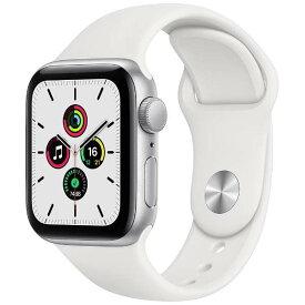 【全国送料無料 365日発送】【国内正規品 500円クーポン発行中】Apple Watch SE(GPSモデル)アップル-40mm ホワイトスポーツバンド MYDM2J/A