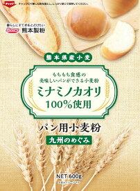 熊本県産小麦 九州のめぐみ 600g   ミナミノカオリ 強力粉 ホームベーカリー パン パン用 製パン 家庭用 チャック ピザ ピザ生地 餃子 ぎょうざ