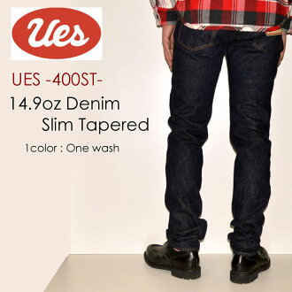 "UES  ""400ST"" slim Tapered [tight straight]; [Vee ounce] [vintage system discoloration]"