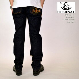 "ETERNAL エターナル""811""レプリカ5ポケットジーンズ[ミドルストレート] [へヴィーオンス] [縦落ち系色落ち]"