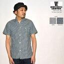 """WAREHOUSE ウエアハウス""""3091""""S/S OPEN COLLAR SHIRTSオープンカラーシャツ[S/Sシャツ]"""