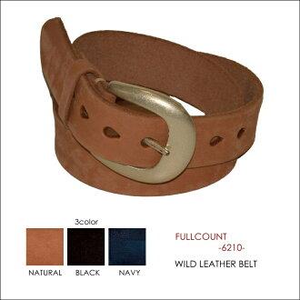 "FULLCOUNT full count FULL COUNT ""6210"" wild leather belt"