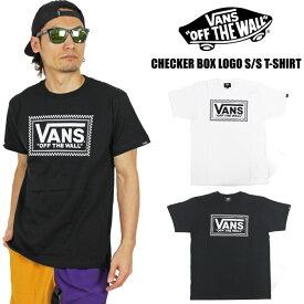 【期間限定ポイント5倍】【SALE★25%OFF】【ゆうパケット1点まで送料無料】VANS Checker Box Logo 半袖Tシャツ メンズ ヴァンズ バンズ チェッカーフラッグ ストリート SK8 19HSMT07 VA19HS-MT07