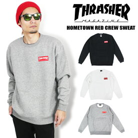 【送料無料】THRASHER HOMETOWN RED CREW SWEAT 裏起毛 スラッシャー クルースウェット トレーナー マグロゴ プルオーバー MAG LOGO メンズ レディース TH94231