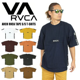 【期間限定ポイント5倍】【送料無料】【新色追加】ルーカ ARCH RVCA TAPE ビッグシルエット半袖Tシャツ オーバーサイズ メンズ レディース アーチテープロゴ サーフ カリフォルニア AJ042-300