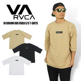【2020春夏新作】【1点までゆうパケット可能】ルーカ IN BROOM BOX RVCA ビッグシルエット 7分丈Tシャツ ロゴワッペン オーバーサイズ メンズ レディース 半袖 ゆったりFIT BA041-218 BA041218