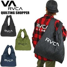 【送料無料】【2020秋冬新作】RVCA ルーカ キルティングショッパー トートバッグ メンズ レディース タウンユース アウトドア エコバッグ サーフ レジャー Quilting Shopper BA042966