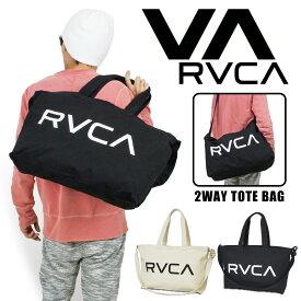 RVCA ルーカ キャンバスコットン 2WAYショルダーバッグ トートバッグ メンズ レディース サーフ SURF スケボー ストリート SK8 カリフォルニア AI041-M92【あす楽対応】