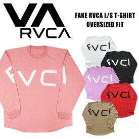 【期間限定ポイント5倍】【送料無料】RVCA ルーカ レディース FAKE RVCA オーバーサイズ 長袖Tシャツ ビッグロゴ アーチロゴ サーフ カリフォルニア AJ043-063