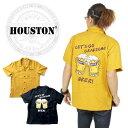 【SALE★20%OFF】【送料無料】Houston ヒューストン ボウリングシャツ ビール アメカジ ヴィンテージ ボーリング メ…