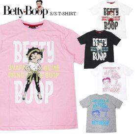 【1点までゆうパケット可能】【2020春夏新作】ベティブープ プリント 半袖Tシャツ Betty Boop ベティちゃん アメカジ メンズ レディース キャラT SPBT-12240 YPC
